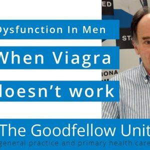 Goodfellow Unit Webinar: Sexual dysfunction in men - when Viagra doesn't work