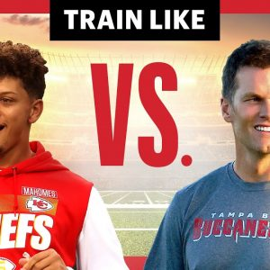 We Compared Patrick Mahomes and Tom Brady's Training Styles | Train Like a Celebrity | Men's Health