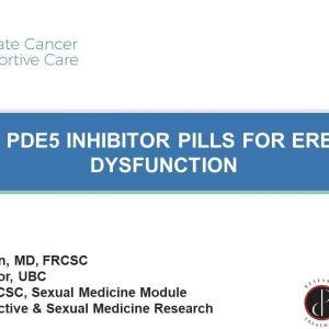 Using PDE5 Inhibitor Pills for Erectile Dysfunction