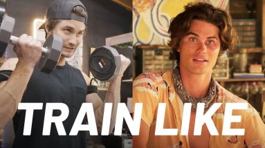 'Outer Banks' Star Chase Stokes 'Beach God' Workout | Train Like a Celebrity | Men's Health